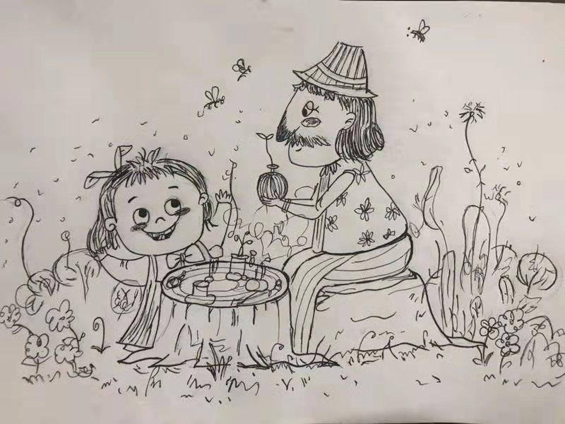 """艺术学子为福利院老人孩子手绘54张""""全家福"""""""
